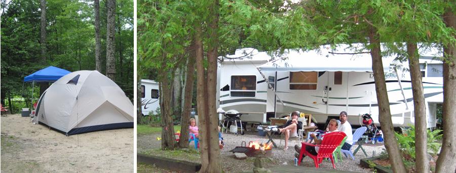 Camping on Lake Dunmore
