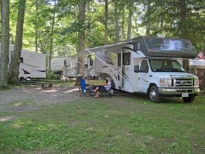 RV Camping Lake Dunmore Vermont
